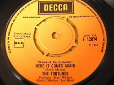 """THE FORTUNES - HERE IT COMES AGAIN / OUR LOVE HAS GONE     7"""" VINYL"""
