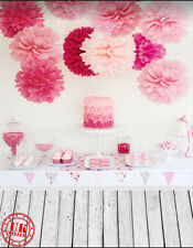 PINK CAKE PAPER BALL BABY BACKDROP BACKGROUND VINYL PHOTO PROP 5X7FT 150x220CM