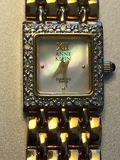 Anne Klein Diamond Swiss Wrist Watch in Gold for Woman 12/72289 with Box