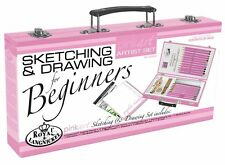 Royal and Langnickel Beginners Sketching & Drawing Art Set Beginners Guide Pink