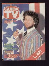 GUIDA TV MONDADORI 12/1981 BEPPE GRILLO CARTONI ANIMATI CAPITAN FUTURO PEPERO