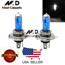 H4 100w Halogen Xenon Headlight Replacement 2x Light Bulb Lamp 6000K White