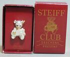 ❤ STEIFF ~TEDDY BEAR 1993 CLUB PIN~ BROOCH - 925 ALL Sterling Silver - NRFB ❤