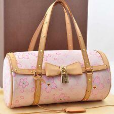Authentic  Louis Vuitton Cherry Blossom Papillon Rose Hand Bag M92010 #S2143