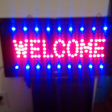 LED ANIMATED LIGHT WELCOME BUSINESS SIGN FOR ANY STORE - NEW!