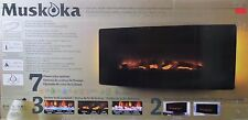 Muskoka 42in Curved Wall Mount Electric Fireplace (47728)