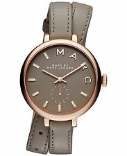 NWT Auth Marc by Marc Jacobs Sally MBM8661 MJ1419 Taupe Leather Strap Watch