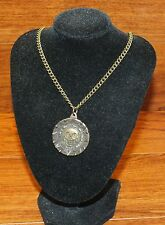 Walt Disney Pirates of the Caribbean Bronze Treasured Coin 13 Inch Necklace READ