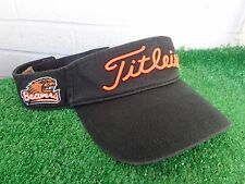 Titleist Oregon State Beavers Collegiate Black Golf Visor NCAA Adjustable NEW