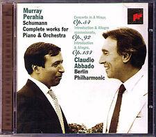 Murray PERAHIA & Claudio ABBADO: SCHUMANN Piano Concerto Konzertstücke Golden CD