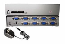 8-Way Port SVGA VGA Multi Video Monitors Duplicator 450MHz Amplified Splitter