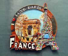 I Love Paris, France Tourist Souvenir Resin Fridge Magnet Craft Travel GIFT