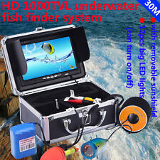 "7"" HD Screen 50M Underwater Camera DVR Video Recording Fish Finder 1000TVL"