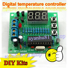 DS18B20 AT89C2051 Microcontroller Temperature Controller LED Alarm DIY Kit 5V DC