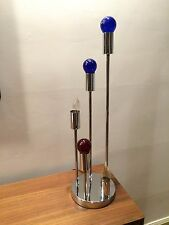 Vintage Mid Century 5 Tiered Chrome Waterfall style lamp 3 Settings