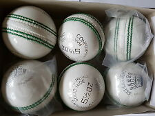 Pro Quality 5 1/2 Oz Cricket Balls Red & white Hand Stitched Leather cricket Bal