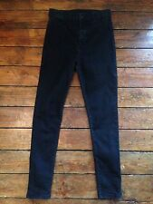 Moto Topshop Joni Skinny Jeans   Black High Waist Sz 12 W30 To fit L30  Tc29