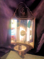 """Colonial Style Taper Candle Holder 5-Mirror Sconce ~ 17"""" Tall x 7"""" Wide"""