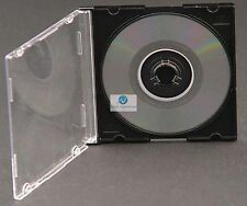 50 Mini Single CD DVD Jewel Case Black Tray Empty Replacement Cover for 8cm Disc