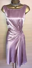 Exquisite Karen Millen Pink Champagne Gathered Draped Grecian Dress Uk12
