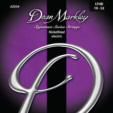 Dean Markley 2504 Nickel Steel Electric Guitar Strings 10-52 LTHB gauge