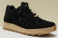STELLA McCARTNEY BLACK VELVET FLOCK  ESPADRILLE SNEAKERS 38/8 $640