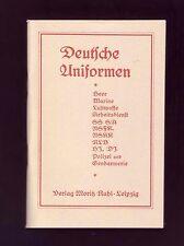"""""""Deutsche Uniformen"""" Verlag Moritz Ruhl, Mützen, Kragenspiegel, Schulterklappen."""