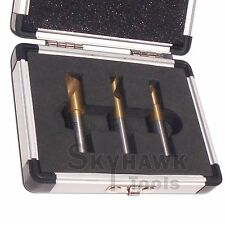 3-pc. HS Cobalt Spot Weld Drill Bit Cutter Bit Flat Shaft Titanium Coated Bits
