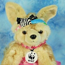 """Build A Bear Fennec Fox Pup Plush Stuffed Animal WWF Series Pink 3 Pc Outfit 16"""""""
