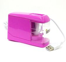 PINK AUTOMATIC ELECTRIC BATTERY / USB gestito Desktop MATITA AFFILATORE cl-9009