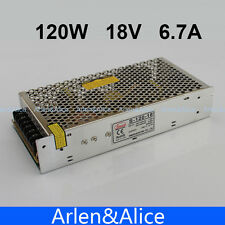 120W 18V 6.7A Single Output Switching power supply for LED Strip light AC TO DC