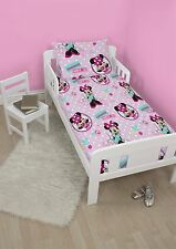 4 in 1 DISNEY MINNIE MOUSE HANDMADE JUNIOR COT BED BUNDLE TO FIT TODDLER BED