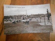 Old Vintage Antique Postcard  Paris Place De la Concorde ND Phot Maybe RPPC