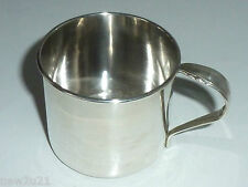 Sterling Silver Baby child Christening Cup Mug by Heirloom Lasting Spring