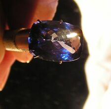 "10.55 ct. GIA CERTIFIED TANZANITE "" AWESOME STONE"" 4A  D BLOCK"