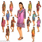 EVOKE ETHNIC TRIBAL PRINT KAFTAN TUNIC TOP DRESS MANY COLOURS SIZE 10-18