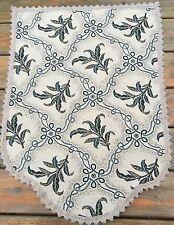 Jacquard Trellis Vine Green  chair backs, polyester/cotton