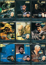 STAR TREK THE NEXT GENERATION PROFILES SET OF 9 ALTERNATE EGOS CARDS AE1-AE9