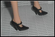 SHOES BARBIE DOLL MODEL MUSE SILKSTONE A MODEL LIFE BLACK HIGH HEEL PUMPS