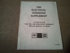 Chevrolet Celebrity 1989 Electrical Diagnosis Shop Manual Supplement
