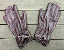 WW2 German Fallschirmjäger /Paratrooper Brown Leather Gloves Late War (M)