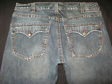 1921 Jeans Mens Low Boot Flap Pocs Distressed  Sz 38 X 28