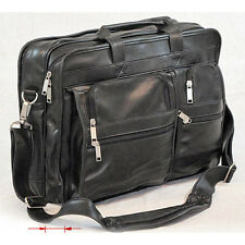 Ashten Leather Laptop Notebook Travel Case Black Bag Sony Toshiba Dell Samsung 5