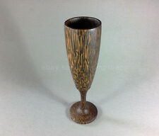 PALM WOOD HANDMADE CARVED WINE CUP MUG FLUTE THAI HANDICRAFT