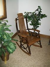 *HICKORY & OAK* Rustic Rocker- Walnut Stain- Amish Made USA