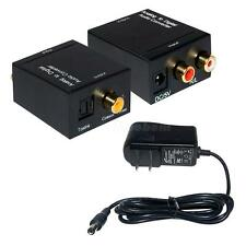Analog to Digital Optical Coaxial Toslink Signal Audio Converter Adapter RCA M0B