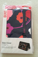 NEW Built NY Slim Protective Cover Kindle Fire Stand Sleeve NWT Blue w/ Flowers