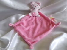 Doudou souris rose, 5 étiquettes, Nicotoy