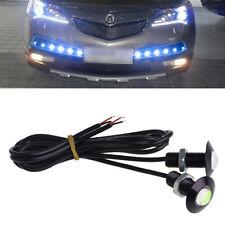 1Pair 12V Ultra Thin Car LED DRL Daytime Running Light Eagle Eye Lamp blue 23mm