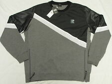 $79 NEW Mens Rocksmith Fragment Crewneck Sweatshirt Black Grey Urban Sz XL L929